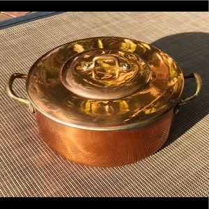Vintage Copper Dutch Oven Pot from Colombia